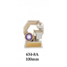 Netball Trophy 634-8A - 100mm Also 120mm & 140mm