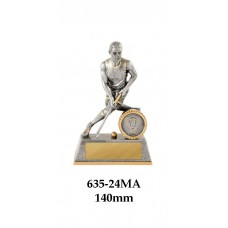 Hockey Trophies Male 635-24MA - 140mm Also 180mm & 225mm
