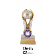 Netball Trophies 636-8A - 125mm Also 150mm 175mm 200mm & 225mm