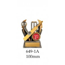 Cricket Trophies 649-1A -100mm Also 120mm & 140mm