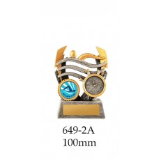 Swimming Trophies 649-2A - 100mm Also 120mm & 140mm