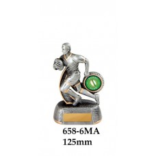 Rugby Trophies 658-6MA - 125mm Also 150mm 175mm 200mm & 275mm