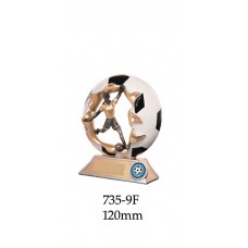 Soccer Trophies Female 735-9F - 120mm Alkso 150mm 175mm & 205mm