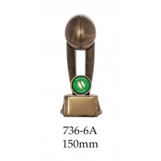 Rugby Trophies 736-6A - 150mm Also 175mm & 200mm