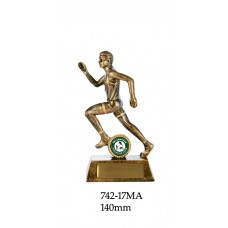 Athletics Trophies Male 977 -17B  - 140mm Also 160mm & 180mm
