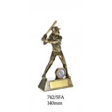 Baseball Softball Trophies Female 742-5FA - 140mm Also 175mm & 200mm
