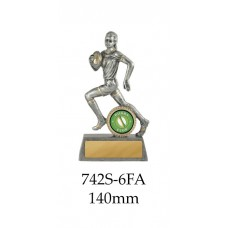 Rugby Trophies 742S-6A - 140mm Also 160mm 200mm 225mm 250mm & 275mm