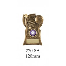 Netball Trophies 770-8A - 120mm Also 135mm & 150mm