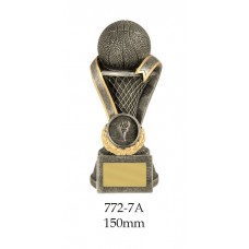 Basketball Trophies 772-7A - 150mm Also 175mm & 200mm