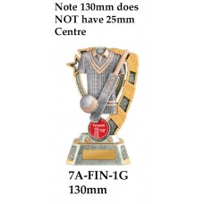 Cricket Trophies 7A-7FIN-1G - 130mm Also 150mm 180mm & 210mm
