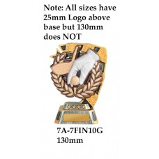 Golf Trophies 7A-7FIN10G - 130mm Also 150mm 180mm & 210mm