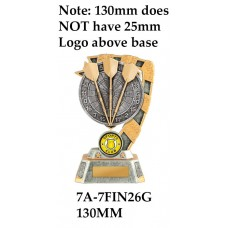 DartsTrophies 7A-7FIN26G - 130mm Also 150mm 180mm & 210mm