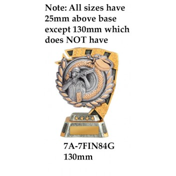 Shooting Trophies 7A-7FIN84G - 130mm Also 150mm 180mm & 210mm