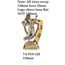 Tennis Trophies Female 7A-FIN-12F - 1300mm Also 150mm 180mm & 210mm