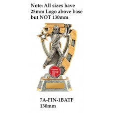Cricket Trophies Female 7A-FIN-1BATF - 130mm Also 150mm 180mm & 210mm