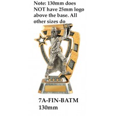 Cricket Trophies Male 7A-FIN-BATM - 130mm Also 150mm 180mm & 210mm