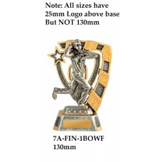 Cricket Trophies Female 7A-FIN-1BOWF - 130mm Also 150mm 180mm & 210mm