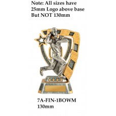 Cricket Trophies 7A-FIN-1BOWM - 130mm Also 150mm 180MM & 210mm