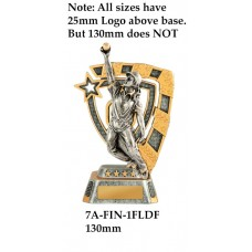Cricket Trophies Female 7A-FIN-1FLDF - 130mm Also 150mm 180MM & 210mm