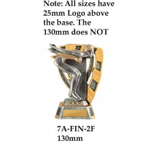 Swimming Trophies 7A-FIN-2F - 130mm Also 150mm 180mm & 210mm