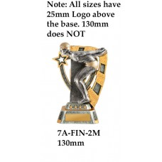 Swimming Trophies 7A-FIN-2M - 130mm Also 150mm 180mm & 210mm