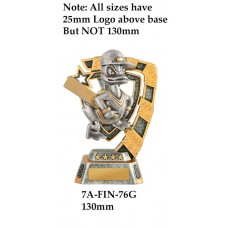 Cricket Trophies Duck 7A-FIN-76G  - 130mm Also 150mm 180mm & 210mm