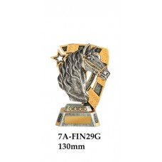 Equestrian Trophies 7A-FIN29G - 130mm Also 150mm 180mm & 210mm