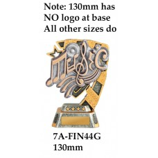 Music Trophies 7A-FIN44G - 130mm Also 150mm 180mm & 210mm