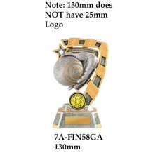Lawn Bowls Trophies 7A-FIN58GA - 130mm Also 150mm 180mm & 210mm