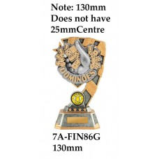 Dominoes Trophies 7A-FIN86G - 130mm Also 150mm 180mm & 210mm