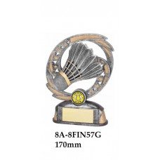 Badminton Trophies 8A-8FIN57G - 170mm Also 190mm