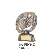 Music Trophies 8A-FIN44G - 170mm Also 190mm