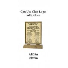 Plaque A1418A - 180mm H