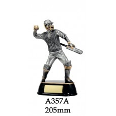 Cricket Trophies Batsman A357A - 205mm Also 225mm & 275mm