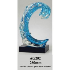 Surfing Award Glass on Crystal Base AG202 - 240mm