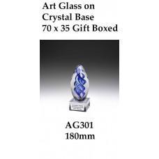 Art Glass Trophies - AG301 -  180mm