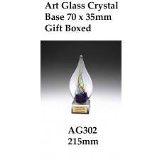 Art Glass Trophies AG302 - 215mm