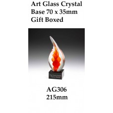 Art Glass Trophies AG306 - 215mm