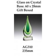 Art Glass Trophies AG310 -235mm