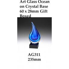 Art Glass Trophies AG311 - 235mm