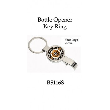 Key Rings Bottle Opener Club or Corporate Logo BS146S (Min 20)