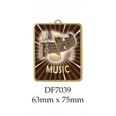 Music Medals DF7039 - 63mm x 75mm
