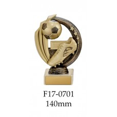 Soccer Trophies F17-0701 - 140mm Also 170mm 195mm & 220mm
