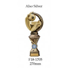 Soccer Trophies F18-1705 - 270mm Also 290mm 310mm 330mm & 360mm