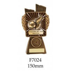 Soccer Trophies Player of the Match  F7024 - 150mm