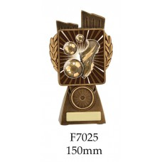 Soccer Trophies F7025 - 150mm Also 175mm 210mm & 245mm