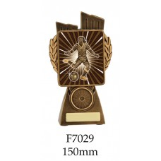 Soccer Trophies Female F7029 - 150mm Also 175mm 210mm & 245mm