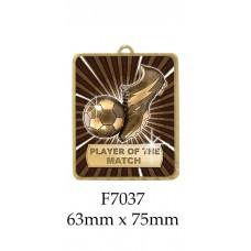 Soccer Medals F7037 - 63mm x 75mm