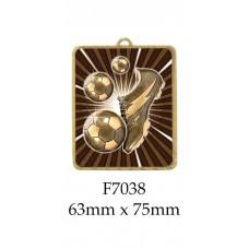 Soccer Medals F7038 - 63mm x 75mm