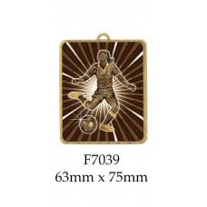 Soccer Medals F7039 - 63mm x 75mm